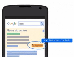 extension appel adwords mobile
