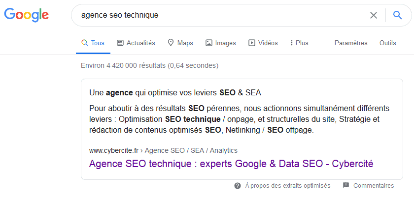 agence seo technique