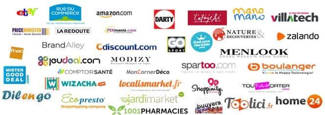 Liste des marketplaces