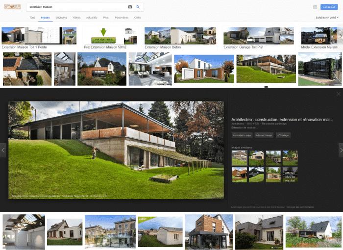 Nouvelle interface de recherche de Google Images