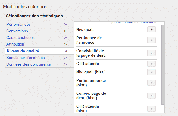 niveau de qualite google adwords