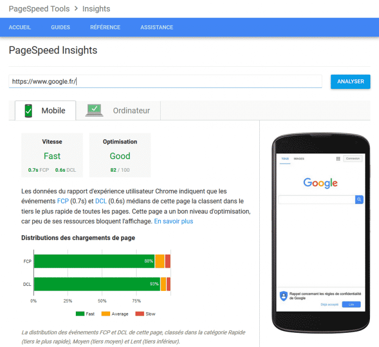 page speed test google mobile