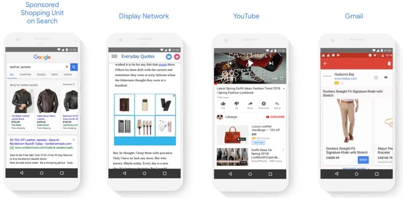 diffusion google shopping adwords