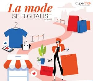 Infographie CyberCité la mode se digitalise