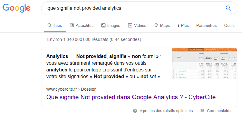 featured snippet / position 0