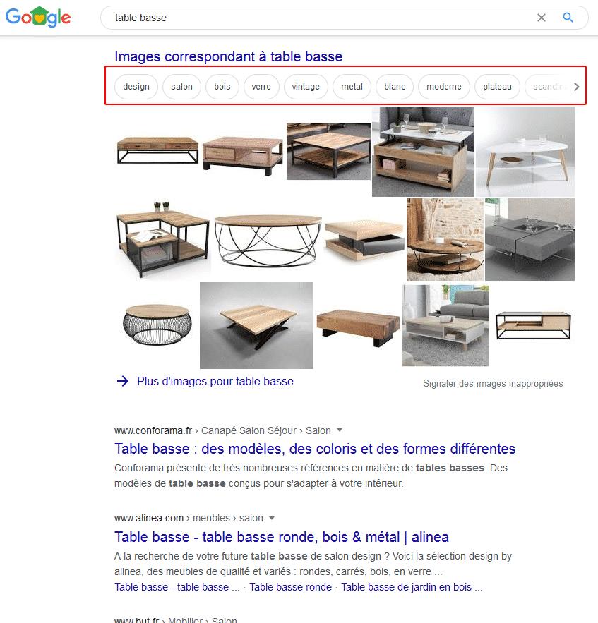 SEO images sur Google